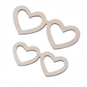 Ξύλινα Γυαλιά Καρδιά φυσικό