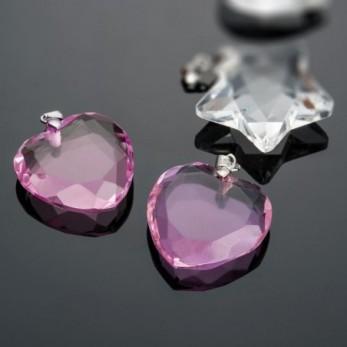 Καρδιά ροζ κρεμαστη
