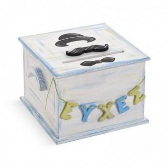 Ξύλινο κουτί ευχών βάπτισης...