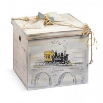 Κουτί Βάπτισης Τρένο vintage