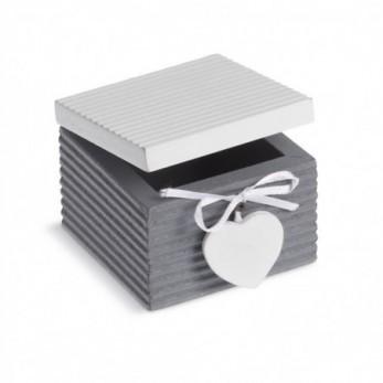 Ξύλινο τετράγωνο κουτάκι