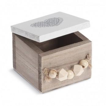 Ξύλινο τετράγωνο κουτί