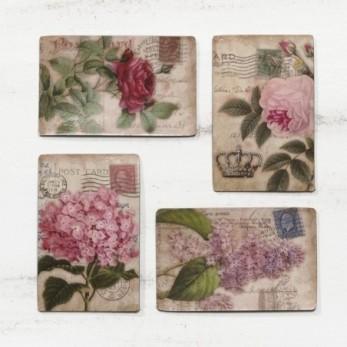 Μαγνητάκια με λουλούδια