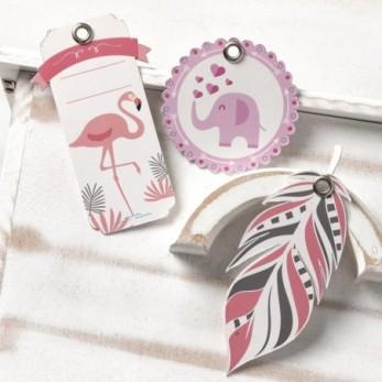 Χάρτινη ετικέτα flamingo