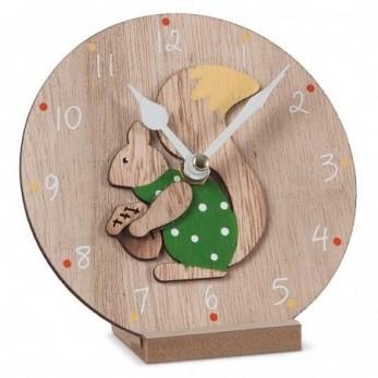 Ξύλινο ρολόι σκίουρος