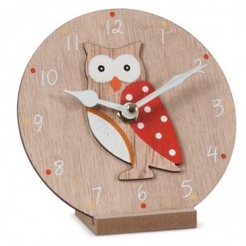 Ξύλινο ρολόι κουκουβάγια