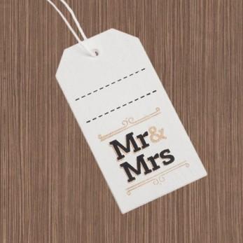 Ξύλινη ετικέτα Mr & Mrs