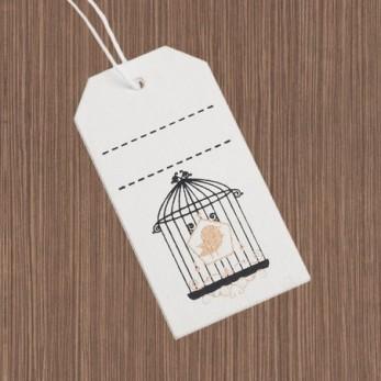 Ξύλινη ετικέτα πουλάκι