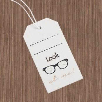 Ξύλινη ετικέτα γυαλιά