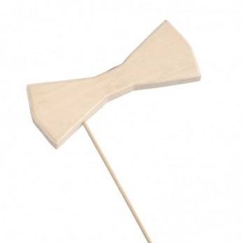 Ξύλινο stick παπιγιόν