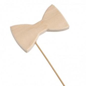 Ξύλινο stick φιόγκος