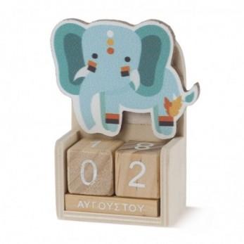Ξύλινο ημερολόγιο ελέφαντας...