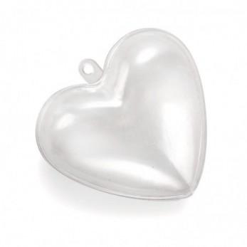 Καρδούλα διάφανη κρεμαστή