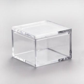 Τετράγωνο κουτί διάφανο