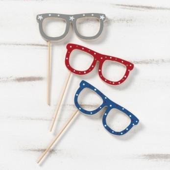 Ξύλινο stick γυαλιά Ζωγραφιστό