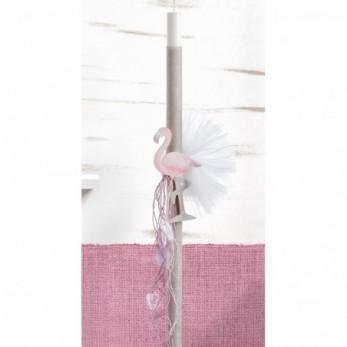 Λαμπάδα Βάπτισης Flamingo