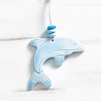 Κρεμαστό γύψινο δελφίνι