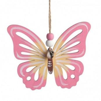 Ξύλινη κρεμαστή πεταλούδα