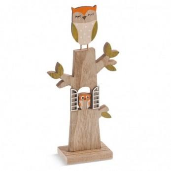 Ξύλινο δέντρο με κουκουβάγιες