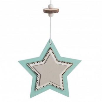 Ξύλινο κρεμαστό διπλό αστέρι