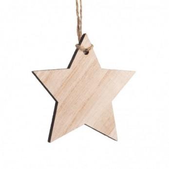 Ξύλινο κρεμαστό αστέρι