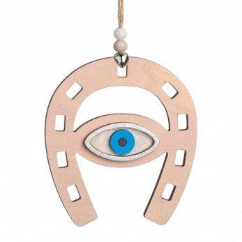 Ξύλινο κρεμαστό πέταλο με μάτι