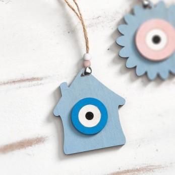 Ξύλινο κρεμαστό σπίτι με μάτι