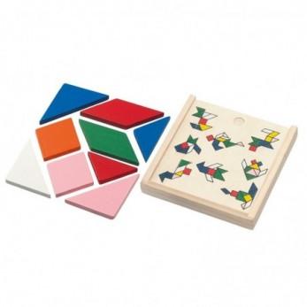 Ξύλινο παιχνίδι τύπου tangram