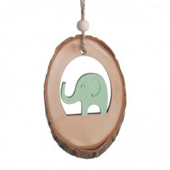 Ξύλινος κορμός με ελέφαντα