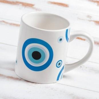 Πορσελάνινη κούπα με μπλε μάτι