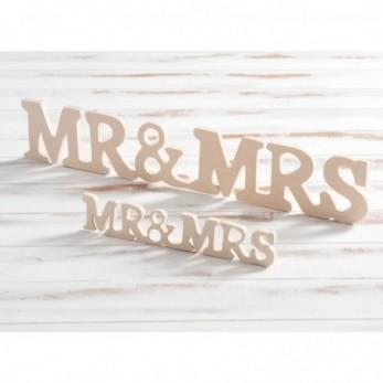 Ξύλινο Διακοσμητικό Mr & Mrs