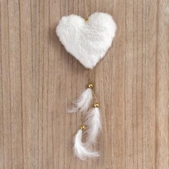 Κρεμαστό γούνινη καρδιά