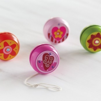 Πολύχρωμα ξύλινα yo-yo