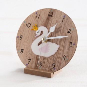 Ξύλινο ρολόι Κύκνος