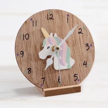 Ξύλινο ρολόι Μονόκερος