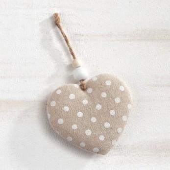 Υφασμάτινη κρεμαστή καρδιά