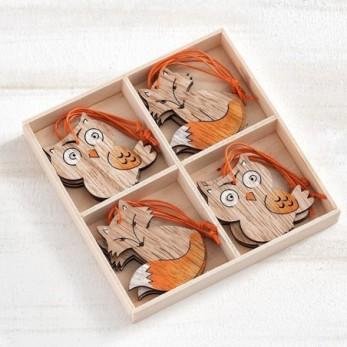Ξύλινα διακοσμητικά ζωάκια