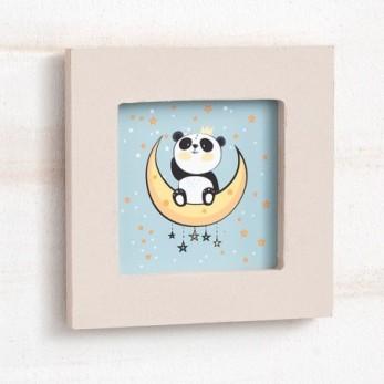 Ξύλινη κορνίζα Panda