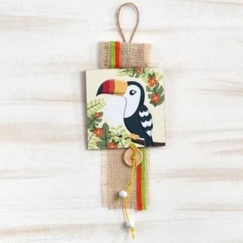 Ξύλινο καδράκι κρεμαστό Toucan