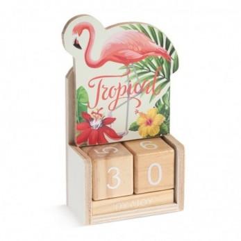 Ξύλινο ημερολόγιο Flamingo