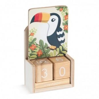 Ξύλινο ημερολόγιο Toucan