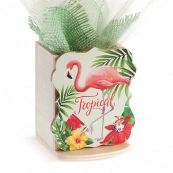 Ξύλινη μολυβοθήκη Flamingo