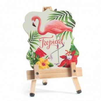 Καβαλέτο με καδράκι Flamingo