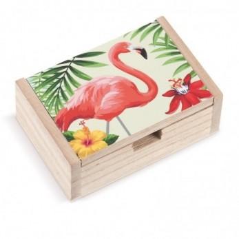 Ξύλινο κουτί Flamingo