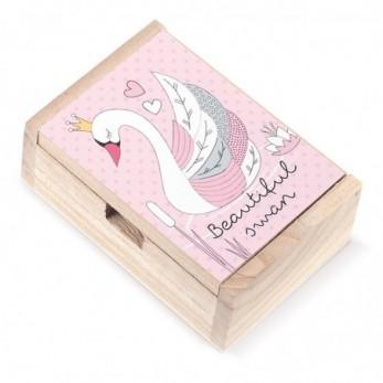 Ξύλινο κουτί Κύκνος