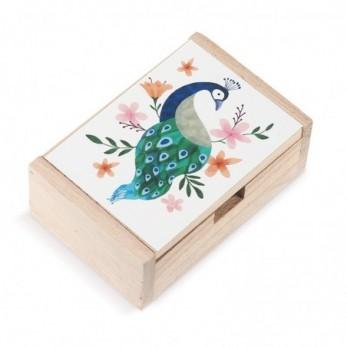 Ξύλινο κουτί Παγώνι