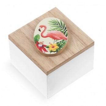 Ξύλινο κουτάκι Flamingo