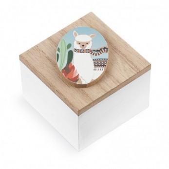 Ξύλινο κουτάκι Llama