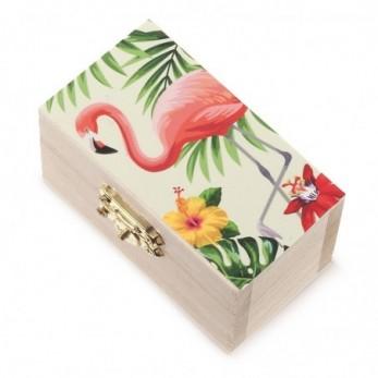 Ξύλινο Σεντούκι Flamingo