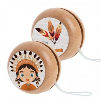 Ξύλινο yo-yo Ινδιάνος